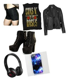 """""""Guns And Roses"""" by livibug-0404 on Polyvore featuring Beats by Dr. Dre, Tripp and Topshop"""