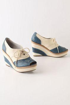 brighton oxfords $148.00 #shoes #wedge #heels #anthropologie