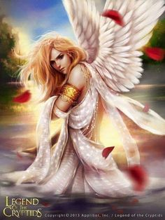 Gemarna of the white Angels,said to have the power of the sun,high priestess of the temple of the sun in the third realm.