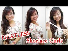 How to Curl Hair with SHOELACE