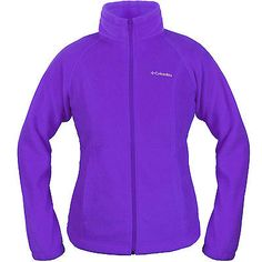 Columbia Benton Springs Full Zip Womens WL6439-540 Purple Fleece Jacket Size M
