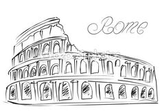 Colosseum in Rome, Italy. Poppy Drawing, Paris Art, Diy Embroidery, Black Wallpaper, Rome Italy, Art Sketches, Printed Shirts, Watercolor Art, Doodles