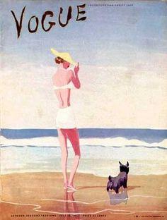 Vintage Vogue & Spanish illustrator Eduardo Garcia Benito, 1937