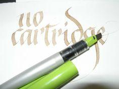 A Place To Flourish: Pilot Parallel Pens  uputa kako upotrijebiti pero bez patrone... hm, neobično i zgodno