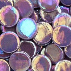 pr85i - Purple - IridescentPennyRound - Kismet Mosaic - 1