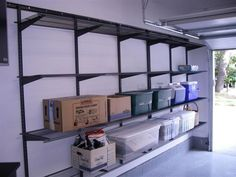 This shelving system would work for my holiday totes
