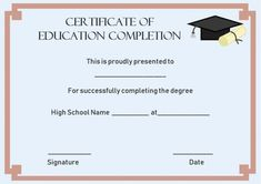 Certificate Of Completion: 22 Templates In Word Format throughout Continuing Education Certificate Template Blank Certificate Template, Certificate Of Completion Template, Survey Template, Printable Certificates, Education Certificate, Training Certificate, Professional Development For Teachers, Best Templates, Continuing Education