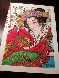 Princess Yaegaki Hime Art by Paulo Barbosa - Ariuken Art on Facebook