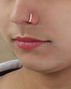 Nose Ring Jewelry, Nose Earrings, Nose Piercing Jewelry, Jewelry Design Earrings, Gold Earrings Designs, Jhumka Designs, Mehndi Designs, Gold Jewelry, Cute Nose Rings
