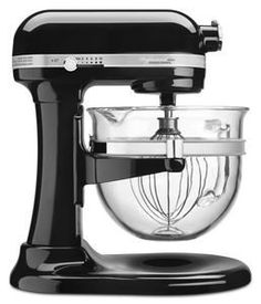 KitchenAid Professional 6500 Design Series Candy Apple Red Bowl-Lift Stand Mixer with 6 Quart Glass Bowl Robot Kitchenaid Artisan, Kitchenaid Pro 600, Kitchenaid Professional 600, Kitchenaid Bowl, Specialty Appliances, Small Appliances, Kitchen Appliances, Red Bowl, Black Bowl