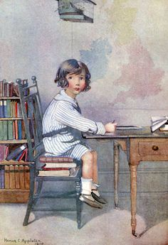 """The School-Boy. From William Blake's """"Songs of Innocence"""", illustrated by Honor C. Appleton, 1911"""