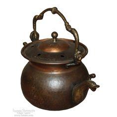 19th Century Copper & Brass Potpourri Simmering Pot