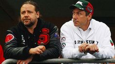 russell crowe rugby | Russell Crowe and Peter Holmes a Court Rugby League Russell Crowe, Rugby League