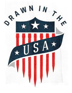 Drawn in the USA by Jeff Stone, via Behance