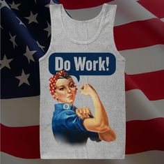 Show your patriotism in this 100% cotton Tultex Athletic Heather Grey tank (Men's sizes, unisex design & fit). Please allow 1-4 business days for processing.    Sizing sheet available here: http://www.tultex.net/storage/specs-sheets/S105TC_Style_Sheet.pdf