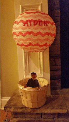 Aiden's Valentine Box - Hot Air Balloon