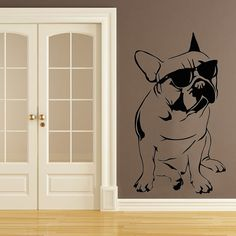 Dog Mural Art, French Bulldog Breed, Beach time Bully, Organic Pet World Collectables