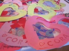 Fun craft for a Valentine Party