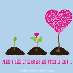 PLANT A SEED - A humongous collection of my illustrated inspirational quotes to brighten even the darkest of days :) Seed Quotes, Teaching Quotes, Painting Quotes, Retirement Parties, Seeds, Digital Art, Inspirational Quotes, Cartoon, How To Plan