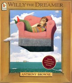Buy Willy the Dreamer by Anthony Browne at Mighty Ape NZ. A stunning Willy book with spectacular, surreal paintings - by one of the most acclaimed of all picture book artists. Willy loves to dream. Book Study, Book Art, Marcel, Voices In The Park, The Dreamers, Anthony Browne, Magical Pictures, Album Jeunesse, Henri Rousseau