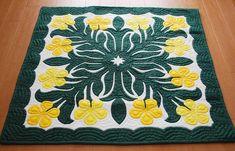 Hawaii Quilt Shows Hawaiian Quilt Patterns, Hawaiian Pattern, Hawaiian Quilts, Hand Applique, Applique Patterns, Applique Quilts, Tropical Quilts, Hawaiian Crafts, Hawaiian Flowers