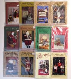 CHRISTMAS PATTERNS LOT OF 12 Country Santa Sprite Elves A Piece Of Heaven Dolls #ThreadsThatBubd