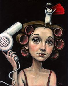 "A gorgeous and whimsical representation of Jenny ""The Bloggess"" Lawson by artist Kelly Vivanco.  #art"