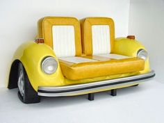 Grün gepickt: Wooow einzigartiges Möbelstück #Recycling von alten Autoteilen #Recycling old car parts for unique furniture.