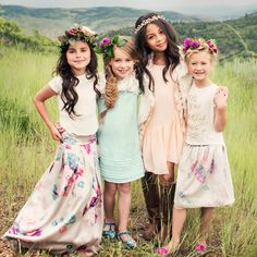 """""""// What's more fun than getting dressed up with your girl friends? Beautiful fall pieces on the site now! Bohemian Kids, Little Girl Fashion, Bridesmaid Dresses, Wedding Dresses, New Girl, Get Dressed, Cute Girls, Fashion Forward, Girl Outfits"""