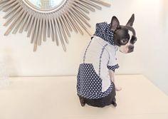 Designer Handmade Small Medium Dog Clothes Boston Terrier Hoodie