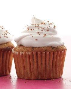 Cappuccino-Chocolate Cupcakes Recipe. Don't have a pastry bag? A zip-top bag makes a fine stand-in. Place it in a tall glass so it's easier to fill.