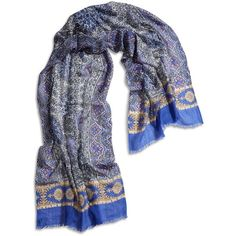 Lucky Brand Moroccan Rug Scarf (7.755 ISK) ❤ liked on Polyvore featuring accessories, scarves, multi, long shawl, lucky brand scarves, long scarves, wool scarves and thick scarves