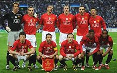 Manchester United line up in Porto, 2009