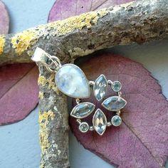 Mondstein & Blautopas, Anhänger, 925 Sterilng Silber in Uhren & Schmuck, Echtschmuck, Halsketten & Anhänger | eBay!