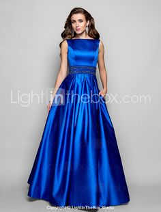 TS Couture® Formal Evening / Prom / Military Ball Dress - Royal Blue Plus Sizes / Petite Ball Gown / A-line Bateau Floor-length Satin 466594 2016 – $129.98