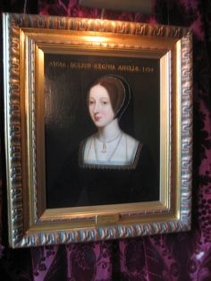 Portrait of Anne Boleyn on display at her childhood home of Hever Castle