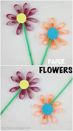 152 best flower art lessons for kids images on pinterest in 2018 paper flower craft mightylinksfo
