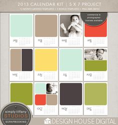2013 Calendars | 5 x 7 Project  16 x 20 Year-At-A-Glance