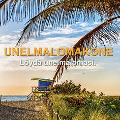 Lomahan se on aina mielessä. Mutta minne matkustaa? Unelmalomakoneemme auttaa sinua parhaan lomakohteen valinnassa. Samalla voit osallistua arvontaan ja voittaa 400 euron matkalahjakortin! #loma #unelma #kisa #matkailu #arvonta