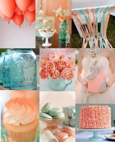 coral, pastel pinks, and pastel tiffany blue Diy Wedding, Dream Wedding, Wedding Day, Surf Wedding, Aqua Wedding, August Wedding, Wedding Blog, Wedding Stuff, Destination Wedding