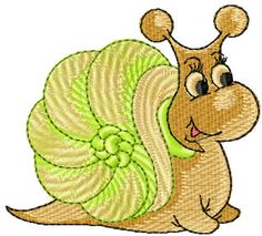 Snail free embroidery design. Machine embroidery design. www.embroideres.com