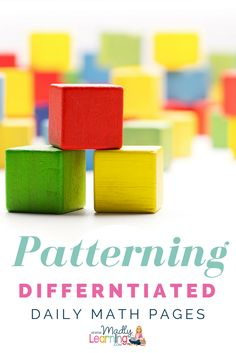 If you are tired of planning multiple activities that meet the needs of your diverse learners in math then you need to check these out. These differentiated daily math pages were created to get students started on math each day in an open ended way with What Is Classroom, Special Education Classroom, Teaching Math, Student Learning, Teaching Strategies, Teaching Tips, Fun Math, Math Activities, Elementary Math