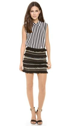 english rose Fringe Mini Skirt