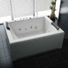 Whirlpool Torino x 142 cm) im Shop von… Aalborg, Bathroom Interior Design, Corner Bathtub, Indoor, Bathroom Ideas, Check, Diy, Products, Sign