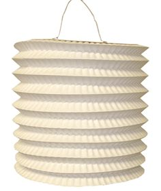 Cylinder Accordion Paper Lantern White