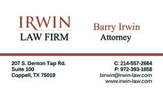 Irwin Law Firm Business Card created by Marni G Designs #MarniGDesigns #BusinessCard #BC #IrwinLawFirm