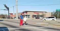 Viral Picture Shows a Kind Man Going Out of His Way to Help an Elderly Woman Cross the Street