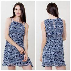 Aztec printed dress available at shoppinkconfetti.com