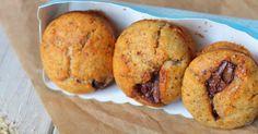 muffins noisette, muffins coeur chocolat, muffins à la noisette, muffins nutella