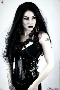 • Gothic Burlesque •  Singer/Model: Eleine Photo: GRANN Photography Corset: Burleska Corsets Harness: Mod Ministry Merch Earrings: Killstar Wig: Black Candy Fashion